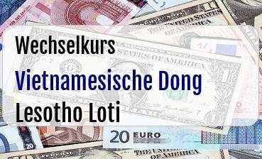 Vietnamesische Dong in Lesotho Loti