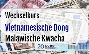 Vietnamesische Dong in Malawische Kwacha