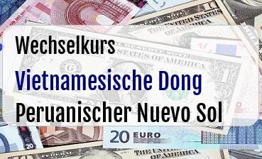 Vietnamesische Dong in Peruanischer Nuevo Sol