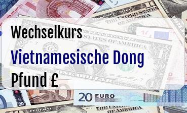 Vietnamesische Dong in Britische Pfund