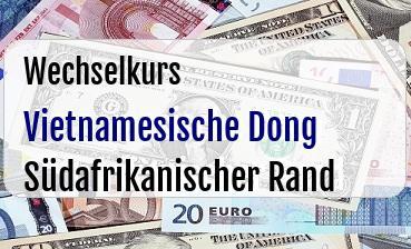 Vietnamesische Dong in Südafrikanischer Rand