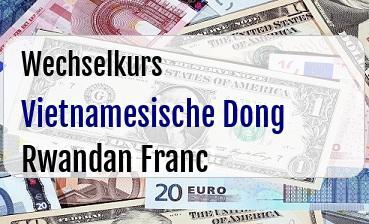 Vietnamesische Dong in Rwandan Franc