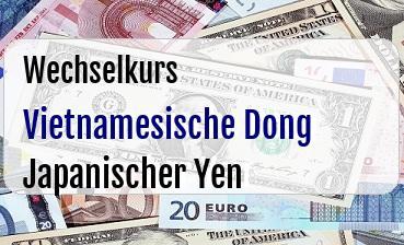 Vietnamesische Dong in Japanischer Yen