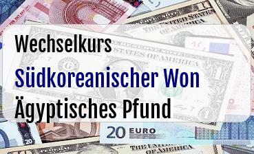 Südkoreanischer Won in Ägyptisches Pfund