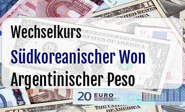Südkoreanischer Won in Argentinischer Peso