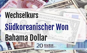 Südkoreanischer Won in Bahama Dollar