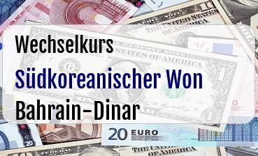Südkoreanischer Won in Bahrain-Dinar