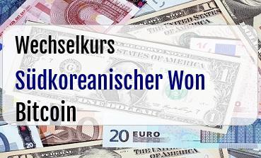 Südkoreanischer Won in Bitcoin