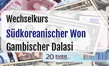 Südkoreanischer Won in Gambischer Dalasi