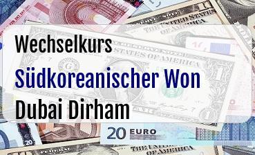 Südkoreanischer Won in Dubai Dirham