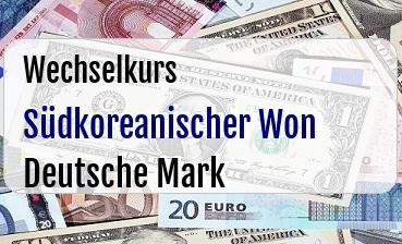Südkoreanischer Won in Deutsche Mark
