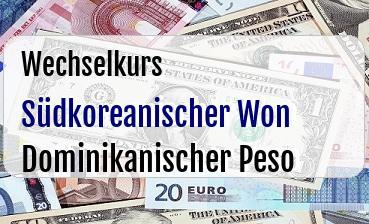 Südkoreanischer Won in Dominikanischer Peso