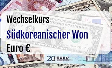 Südkoreanischer Won in Euro
