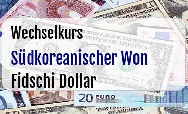 Südkoreanischer Won in Fidschi Dollar