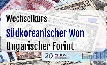 Südkoreanischer Won in Ungarischer Forint