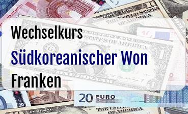 Südkoreanischer Won in Schweizer Franken