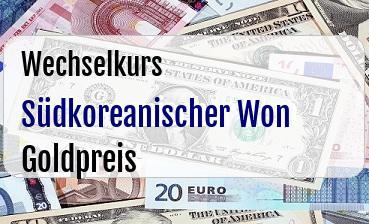 Südkoreanischer Won in Goldpreis