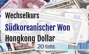 Südkoreanischer Won in Hongkong Dollar
