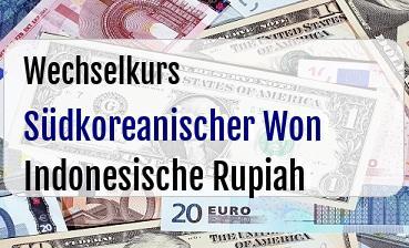 Südkoreanischer Won in Indonesische Rupiah