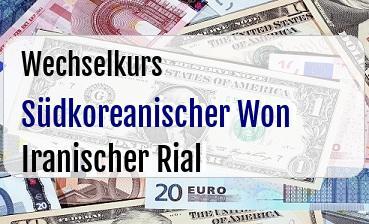 Südkoreanischer Won in Iranischer Rial