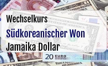 Südkoreanischer Won in Jamaika Dollar