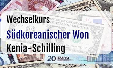 Südkoreanischer Won in Kenia-Schilling