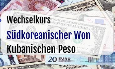 Südkoreanischer Won in Kubanischen Peso