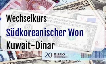 Südkoreanischer Won in Kuwait-Dinar