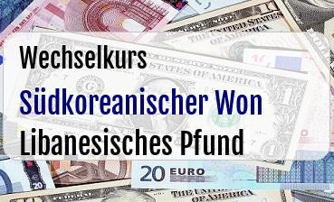 Südkoreanischer Won in Libanesisches Pfund