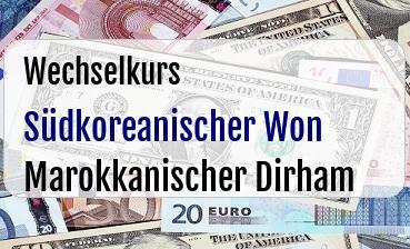 Südkoreanischer Won in Marokkanischer Dirham