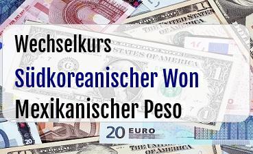 Südkoreanischer Won in Mexikanischer Peso