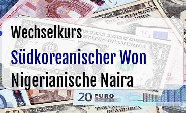 Südkoreanischer Won in Nigerianische Naira