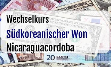 Südkoreanischer Won in Nicaraguacordoba