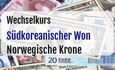 Südkoreanischer Won in Norwegische Krone