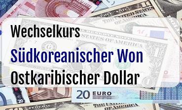 Südkoreanischer Won in Ostkaribischer Dollar