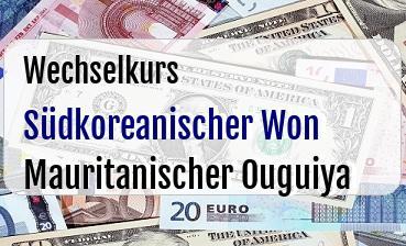 Südkoreanischer Won in Mauritanischer Ouguiya