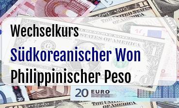 Südkoreanischer Won in Philippinischer Peso