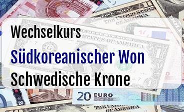 Südkoreanischer Won in Schwedische Krone
