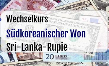 Südkoreanischer Won in Sri-Lanka-Rupie