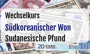 Südkoreanischer Won in Sudanesische Pfund