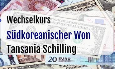 Südkoreanischer Won in Tansania Schilling