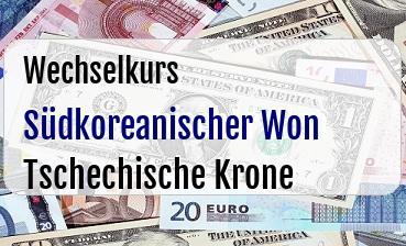 Südkoreanischer Won in Tschechische Krone