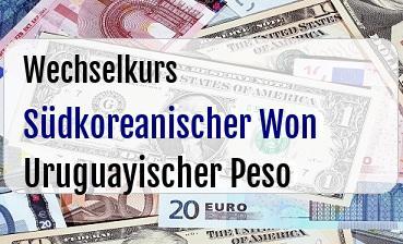 Südkoreanischer Won in Uruguayischer Peso