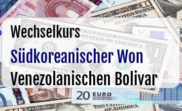 Südkoreanischer Won in Venezolanischen Bolivar