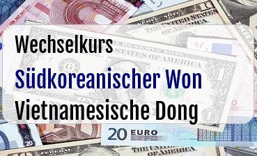 Südkoreanischer Won in Vietnamesische Dong