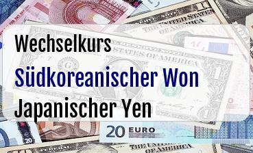 Südkoreanischer Won in Japanischer Yen