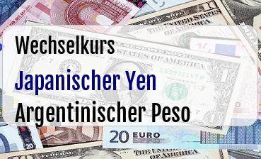 Japanischer Yen in Argentinischer Peso