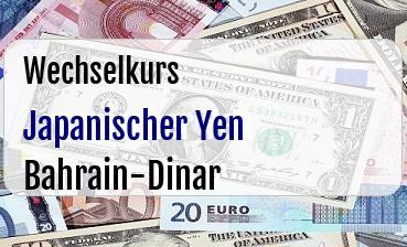 Japanischer Yen in Bahrain-Dinar