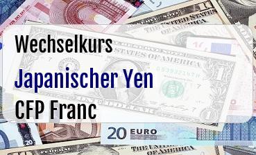 Japanischer Yen in CFP Franc