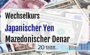 Japanischer Yen in Mazedonischer Denar